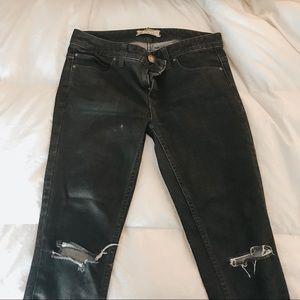 free people skinny, distressed jeans